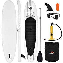 Goplus Inflatable 11' StandUp Paddle Board Package w/ Leash