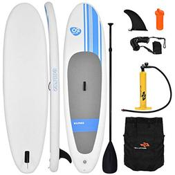 Goplus Inflatable 10'  StandUp Paddle Board Package w/ Leash