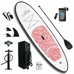 Inflatable SUP Board ISUP 10'*30''*4'w/Adjustable Padd