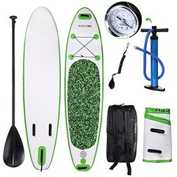 ANCHEER Inflatable Stand Up Paddle Board 10', iSUP Package w
