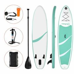 10' Inflatable SUP Stand Up Paddle Board, Paddle, Pump & Car