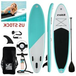 Ediors Inflatable SUP Stand Up Paddle Board, Paddle, Pump &