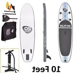 Inflatable Wave Edge 10 Foot Stand Up Paddle Board White SUP