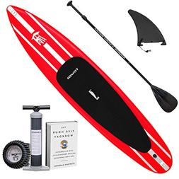 """Tower iRace 12'6"""" Inflatable SUP Package, Black/White"""