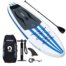 WOWSEA iSUP Inflatable 11' Stand Up Paddle Board Package Inc