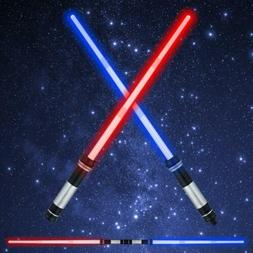 Kids Lightsaber Glow Sword 2 in 1 FX Sound Double Bladed Dua