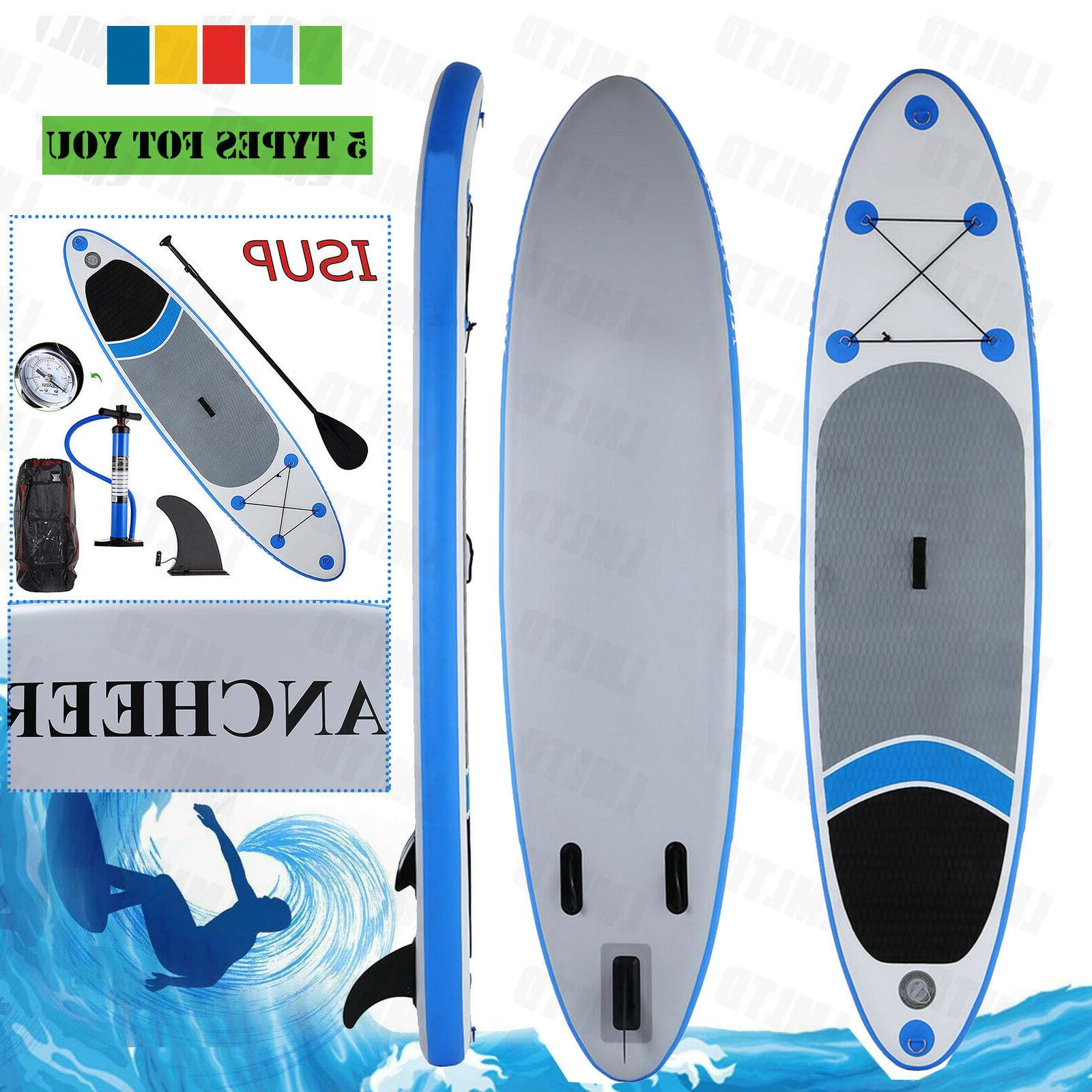 11'/10' Inflatable Stand Up Paddle Board  w/SUP Accessories&