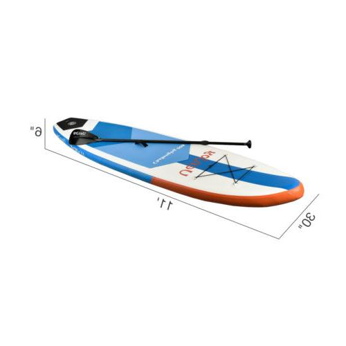 10' Stand Board Surfboard Adjustable Paddle