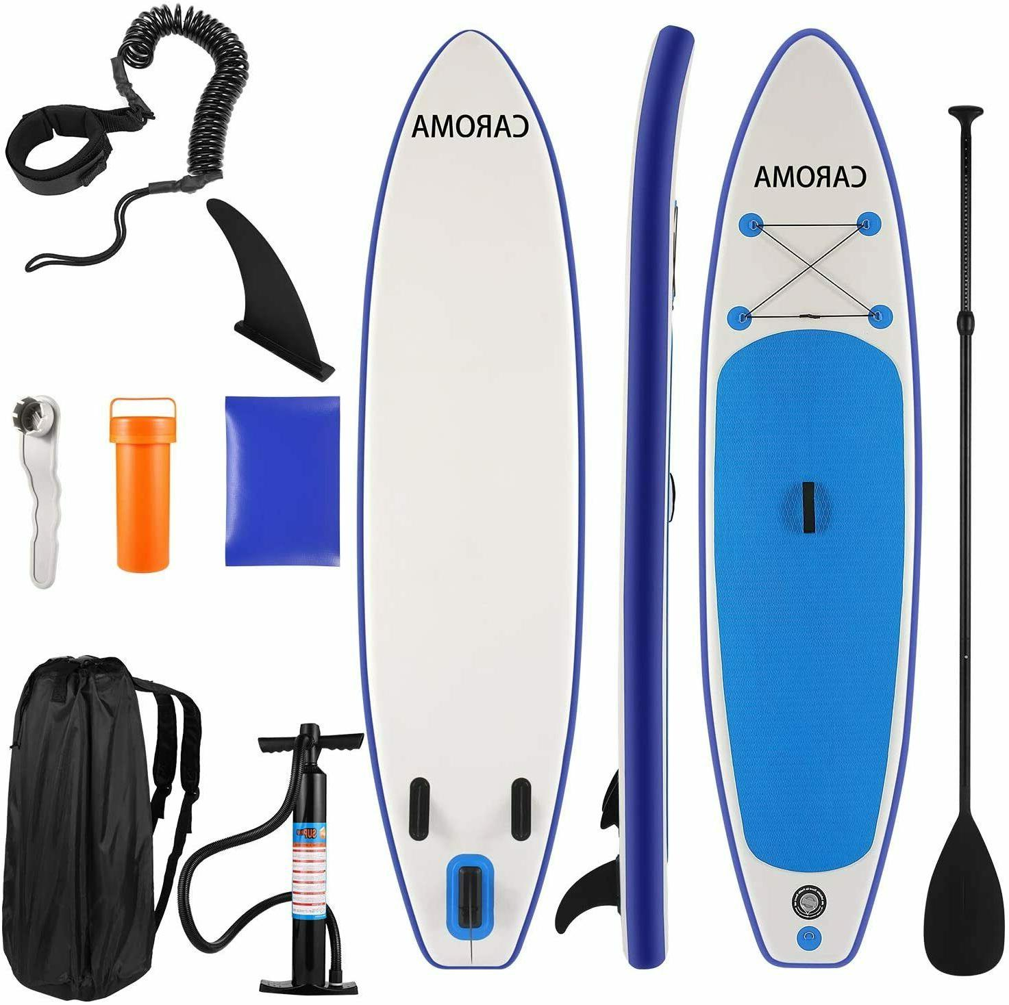 """Caroma 12'6""""×30""""×6"""" Board Stand Up Board+Travel Backpac"""