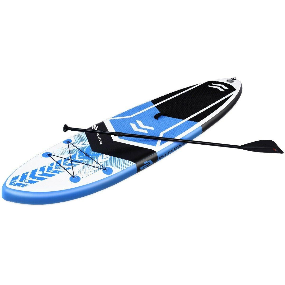 10.5' SUP Inflatable Stand up Paddle Board w/ Adjustable Bac