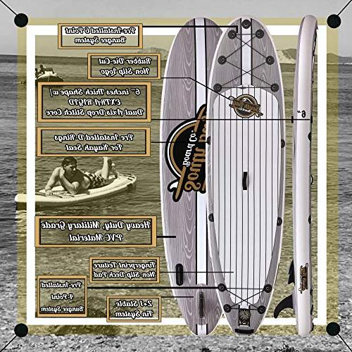 SBBC   - Stand Up Paddle 10'6 Package    Layer 6 inch Inflatable   Non-Slip Deck Youth