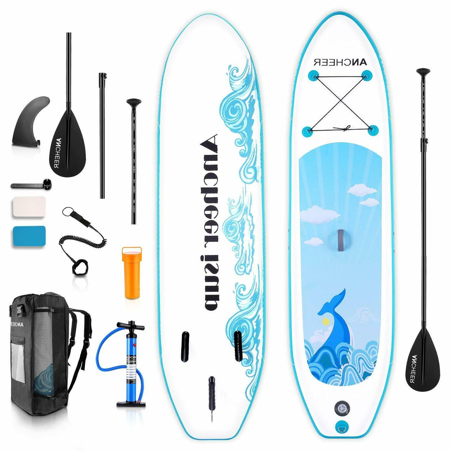 ANCHEER Inflatable SUP Stand Up Paddle Paddle, Bag