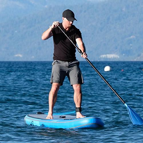 GILI Inflatable Up Paddle : Includes Backpack, Coiled Leash,