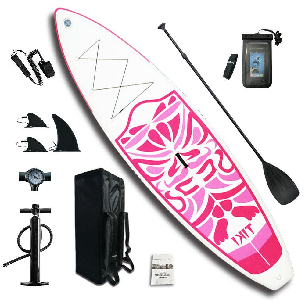 """10'6x33""""x6"""" Inflatable Paddle Board Paddle,Backpack,leash,pump"""