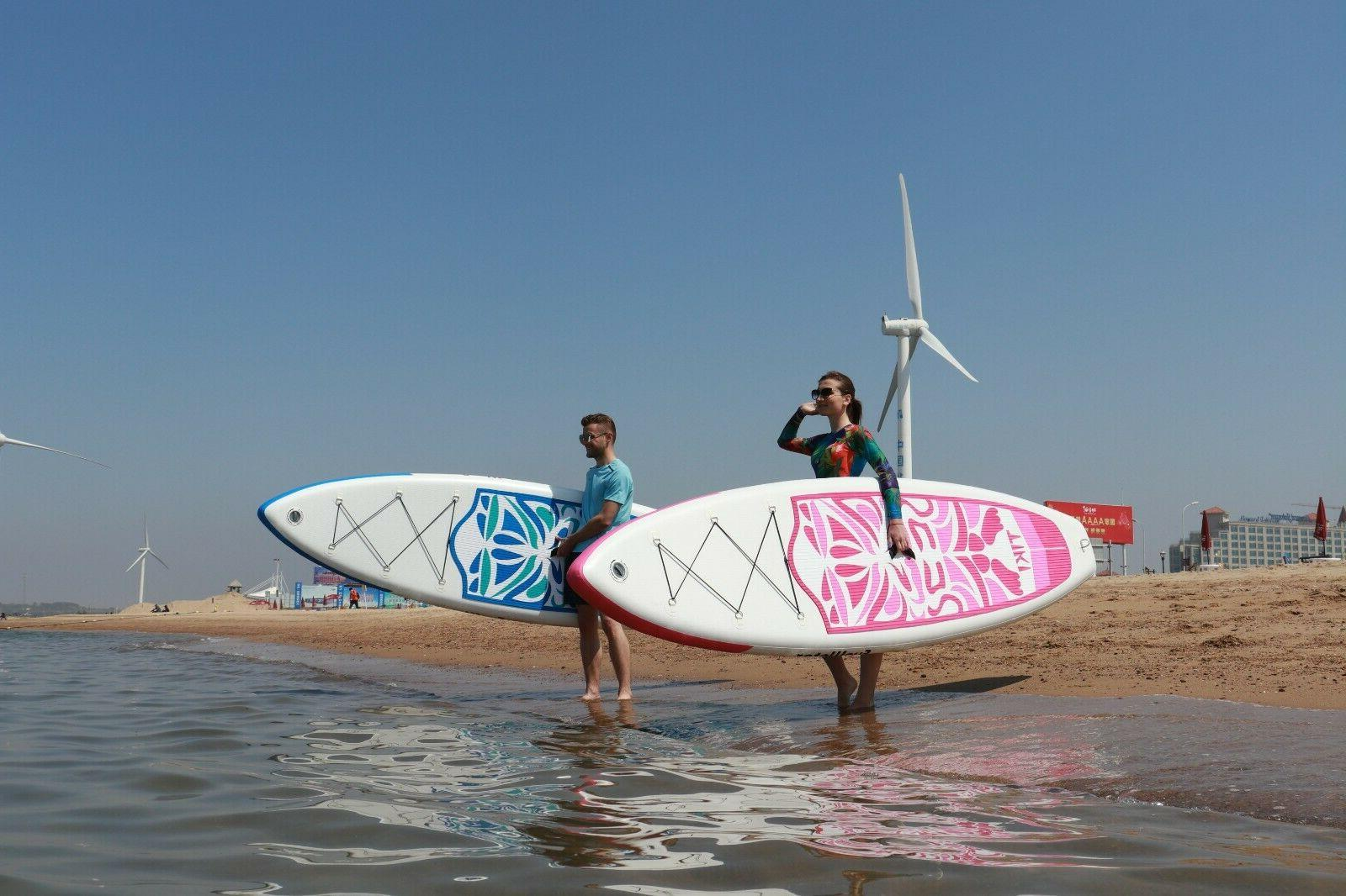 """10'6x33""""x6"""" Inflatable Up Paddle Board w/Ad Paddle,Backpack,leash,pump"""