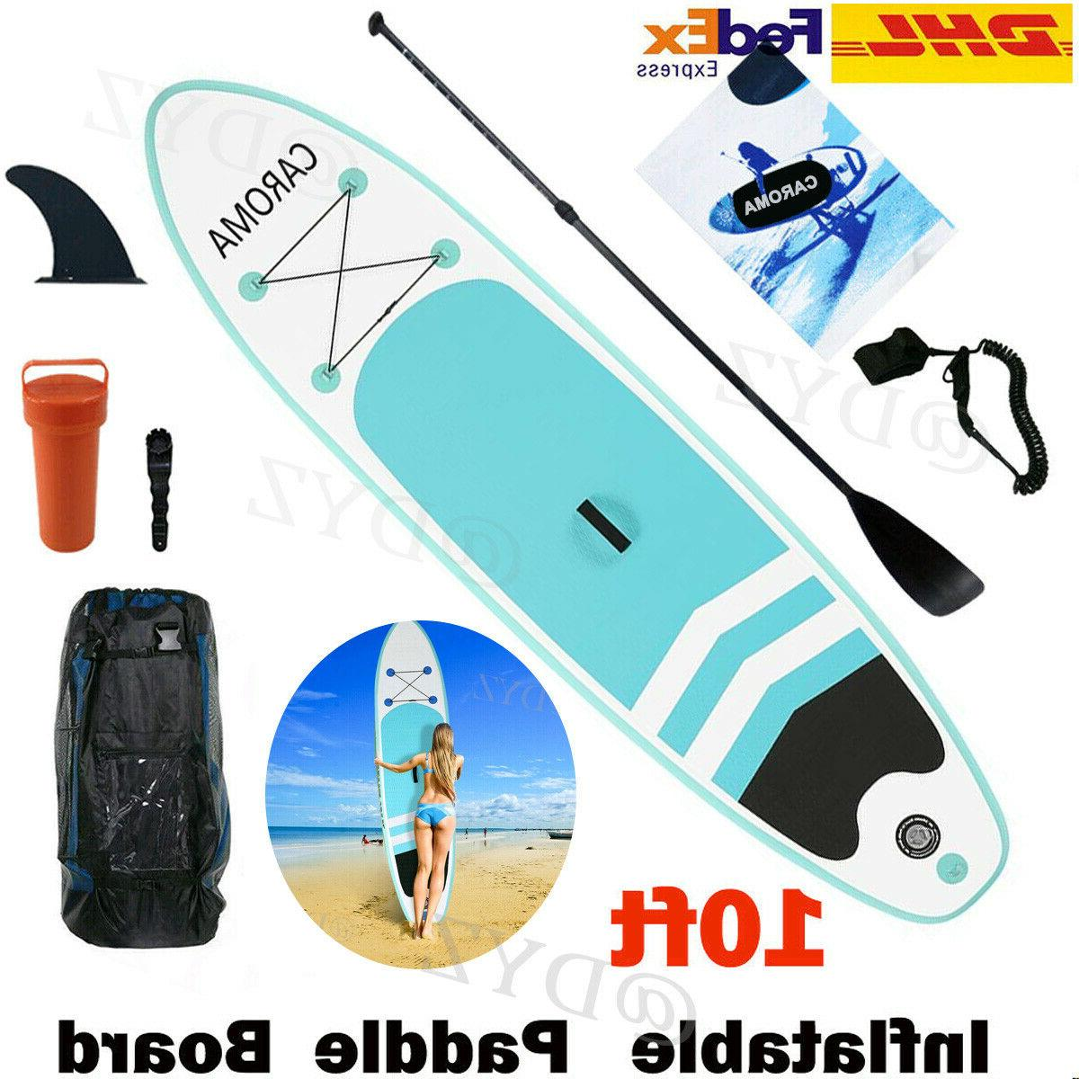 CAROMA 10.5ft Inflatable SUP Stand Up Paddle Pump Board Boat