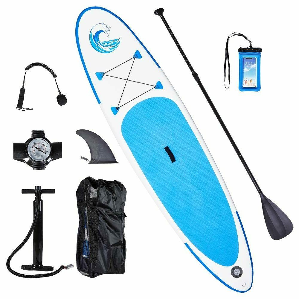 10' Inflatable Paddle Board Surfboard All Around with complete kit