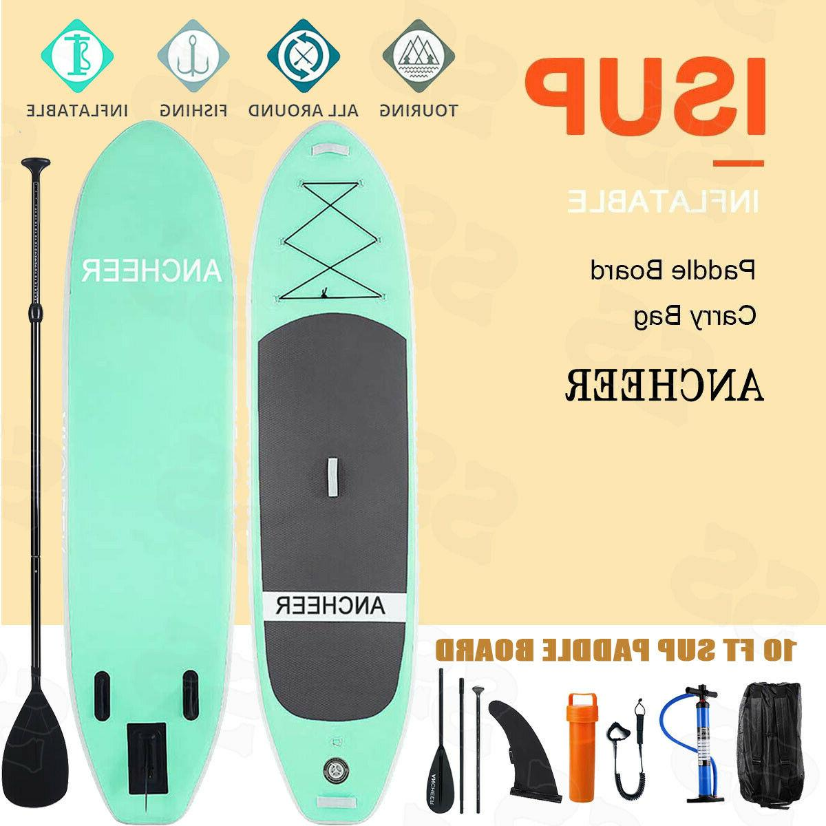 ANCHEER Inflatable Stand Up Paddle Board 10' iSUP Package w/