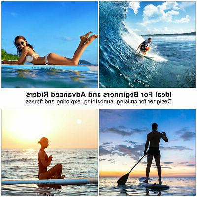10' Inflatable Paddle Board Surfboard SUP W/ Bag Adjustable Fin