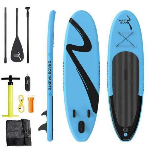 10'Inflatable Stand Up Paddle Board Surfing SUP Boards Non-s
