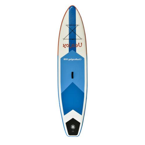 10' SUP up Paddle Board Adjustable Fin Paddle Blue