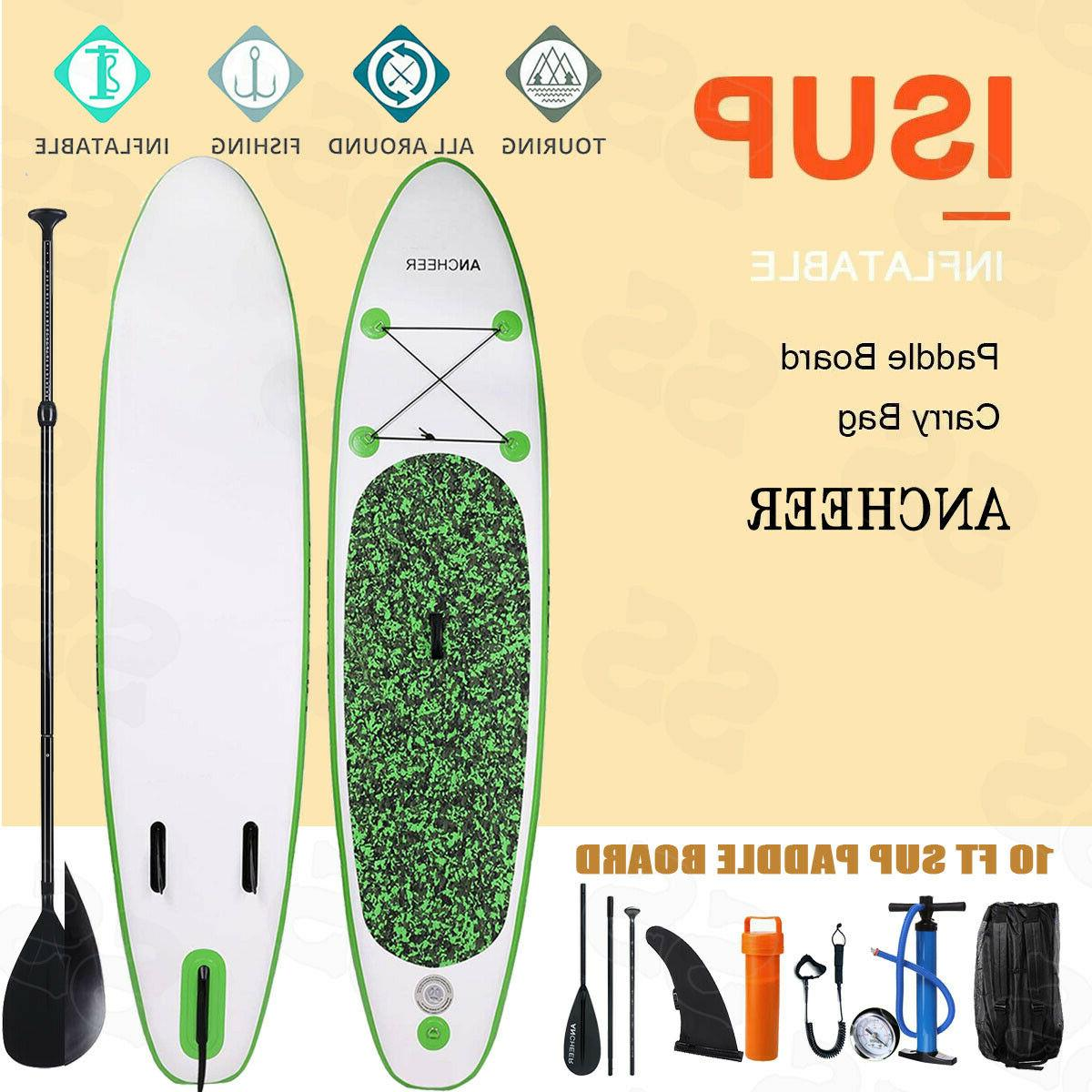 Ancheer 10ft 6' Inflatable SUP Stand Up Paddle Board, Paddle