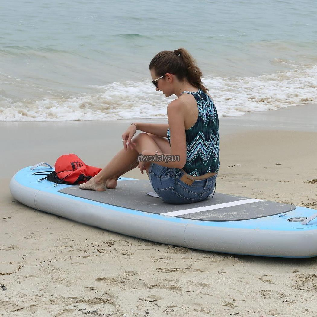 10' Inflatable SUP Stand Up Paddleboards Paddle Board Paddle & Bag