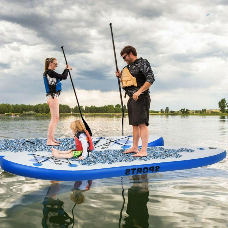 10FT Adjustable Fin Paddle Inflatable Super Stand Up Paddle