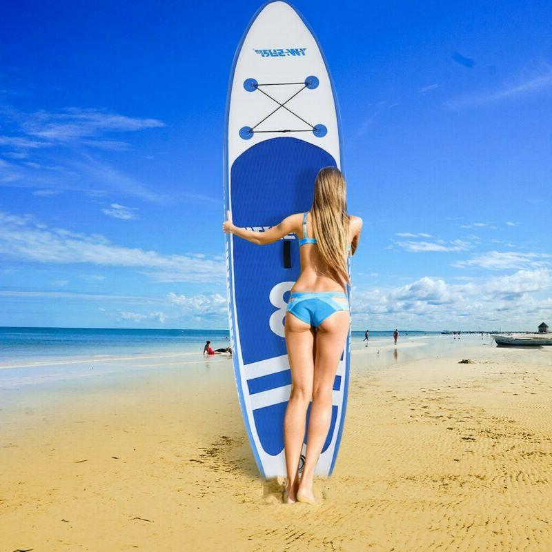 10' Inflatable Stand up Paddle Board Surfboard SUP W/Bag Adj