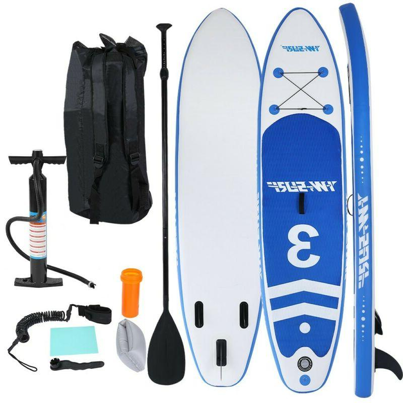 10' Inflatable Non-slip Stand Up Paddle Board Surfing SUP Bo