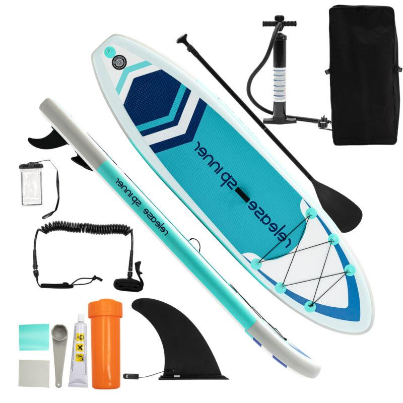 10' SUP Inflatable Stand Up Paddle Board Surfboard Paddelboa