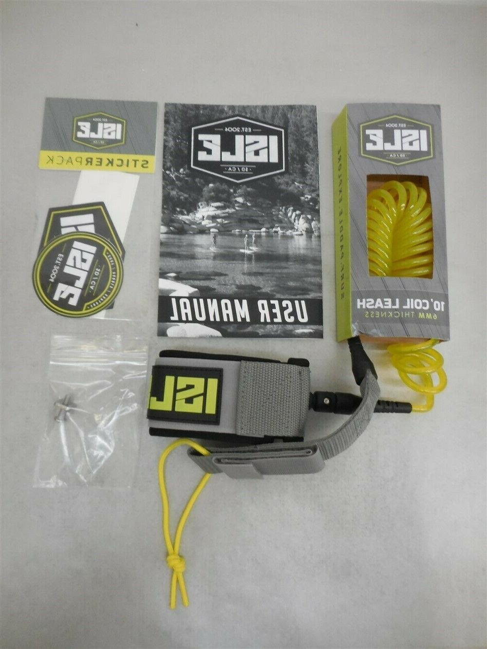 10 sup leash coil 6mm thickness paddle