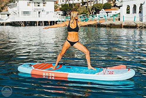 "Peak Fitness & Yoga Inflatable Stand Up Paddle 6"" Thick Bundle 