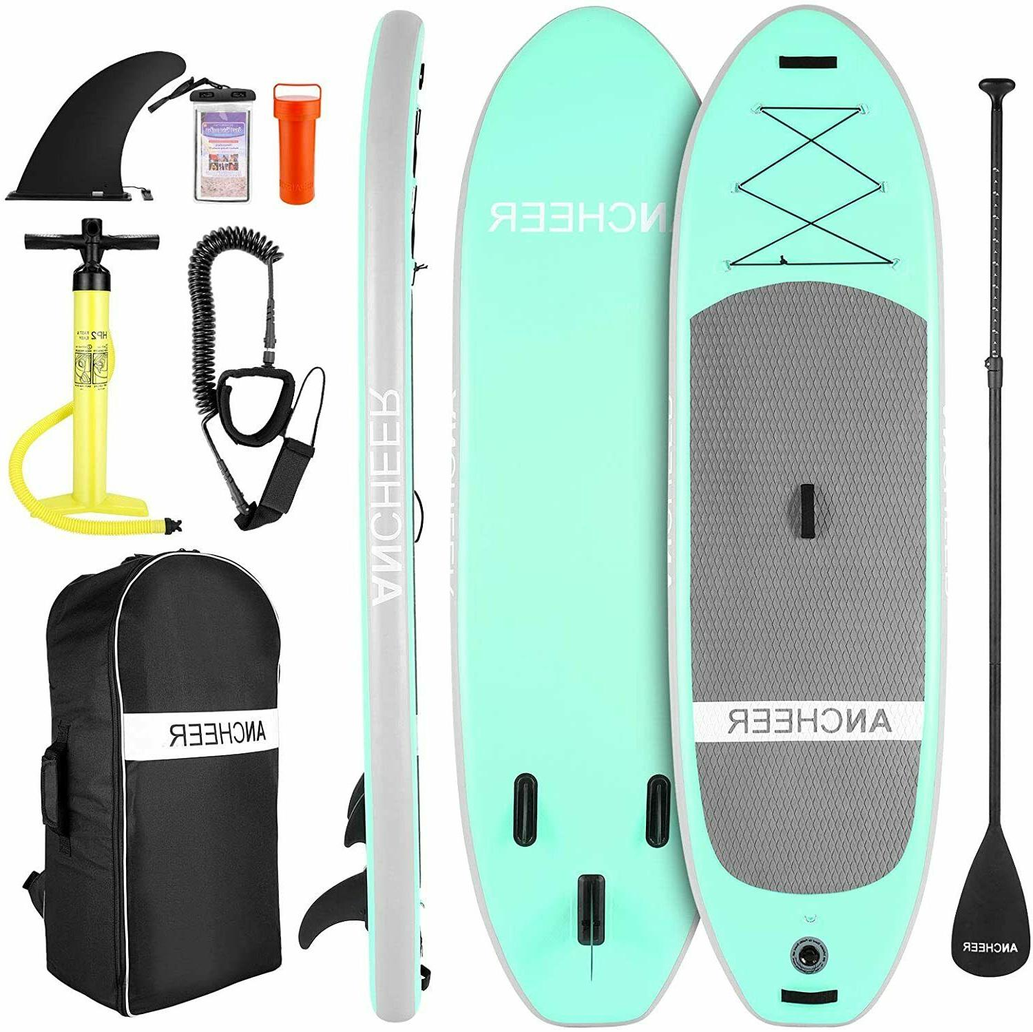 10ft Inflatable Stand Up Paddle Board iSUP w/Adjustable Padd