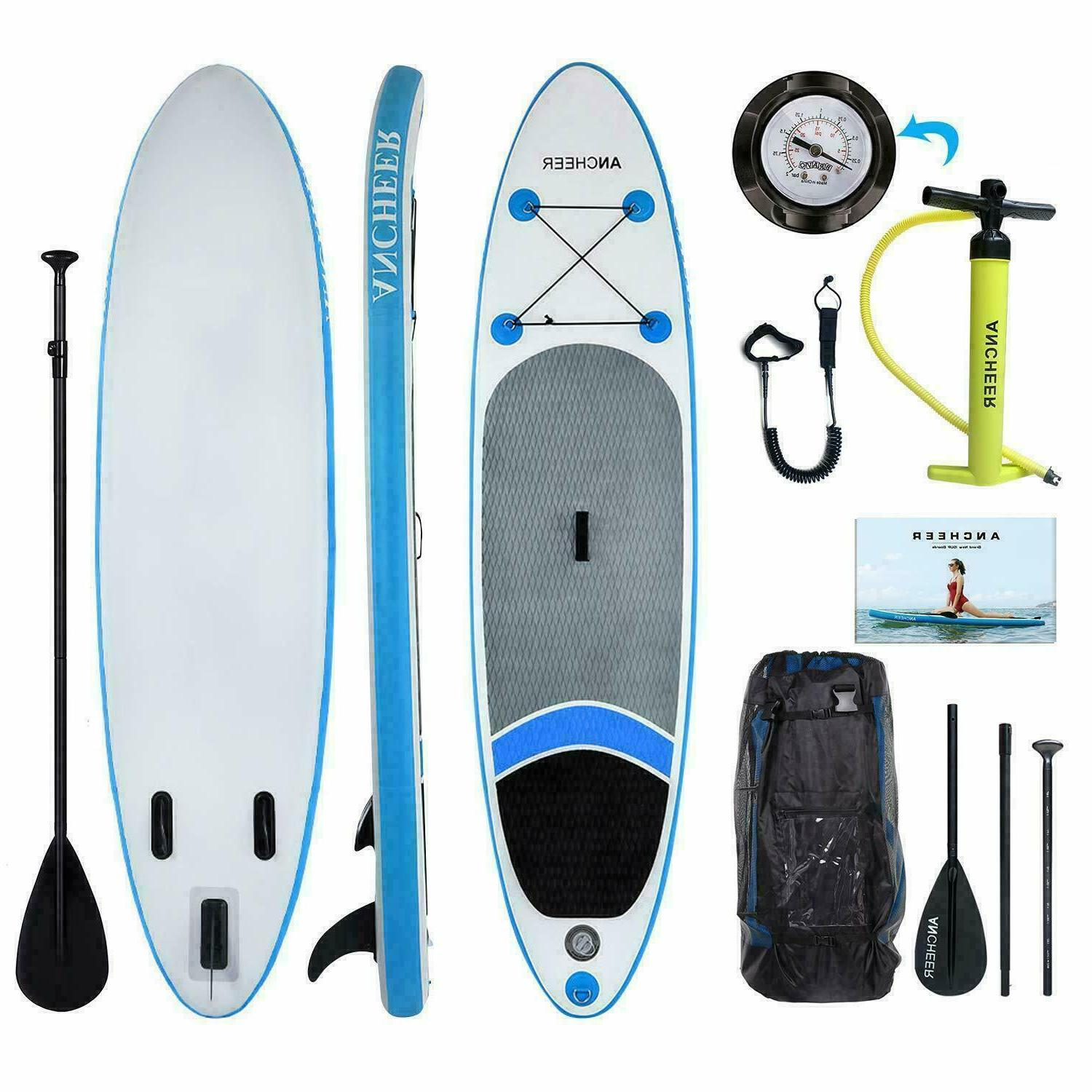 10ft Inflatable Stand Paddle w/ Adjustable