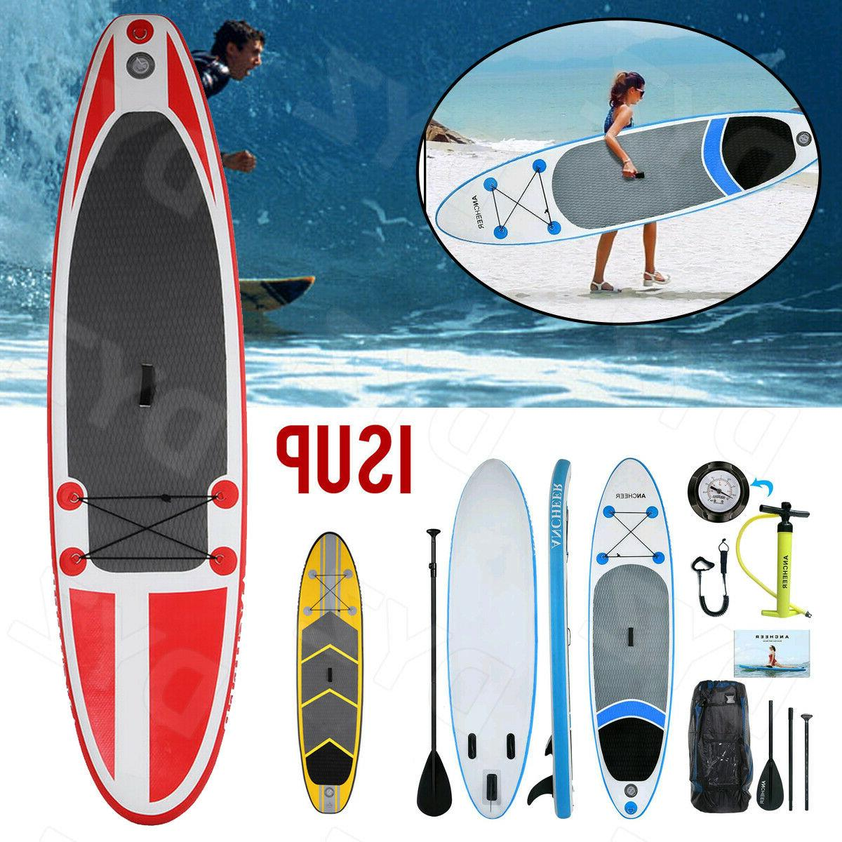 10ft Inflatable Stand Up Paddle Board iSUP with Adjustable P
