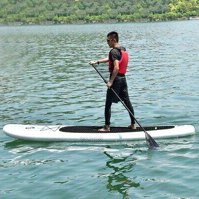 Inflatable 11' Outdoor Goplus Stand Up Paddle Board w/ Paddl