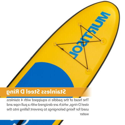 11' Inflatable Stand Up Paddle Adjustable Paddle Yellow
