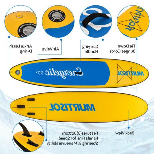 11' Inflatable Stand Up Paddle Surfboard Non-Slip Adjustable