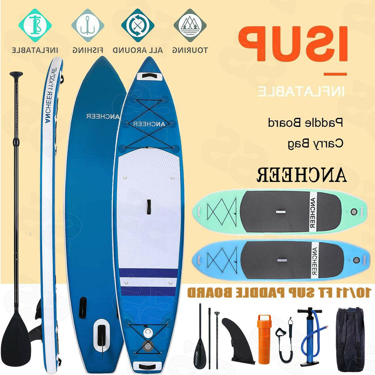 Ancheer 10' Inflatable Stand Up Paddle Board SUP Surfboard 2