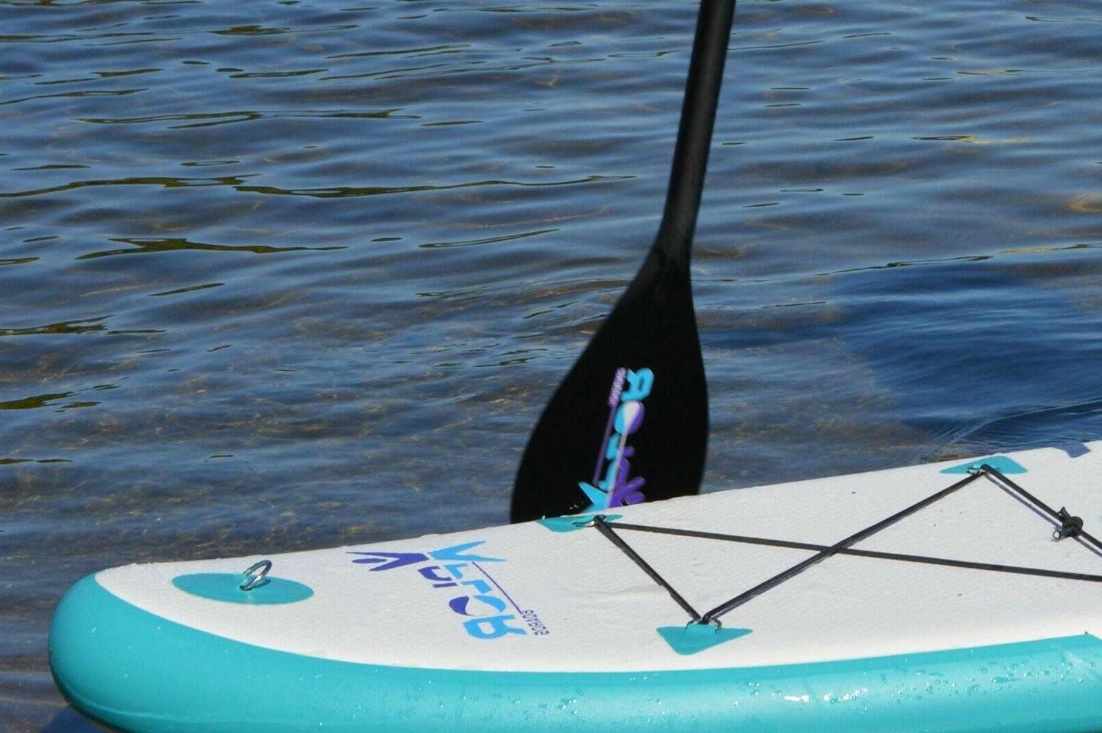 "7'6"" Inflatable Up Paddle Board w/Carry Bag Paddle"