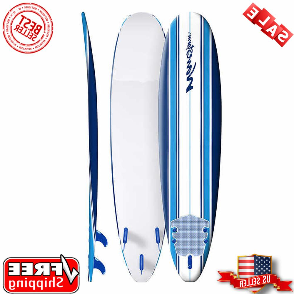 8 ft classic surfboard blue stripes high