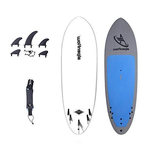 A Up Paddle Board with Removable and Leash