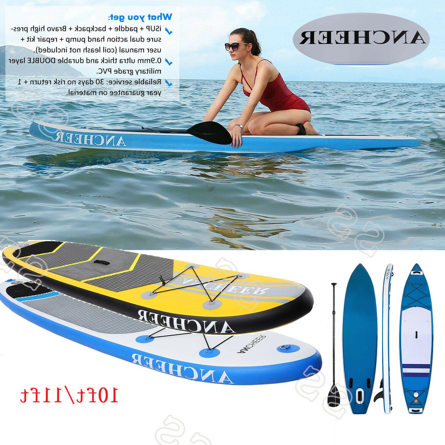 10 FT Inflatable Stand Up Paddle Board w/ Accessories for Pa