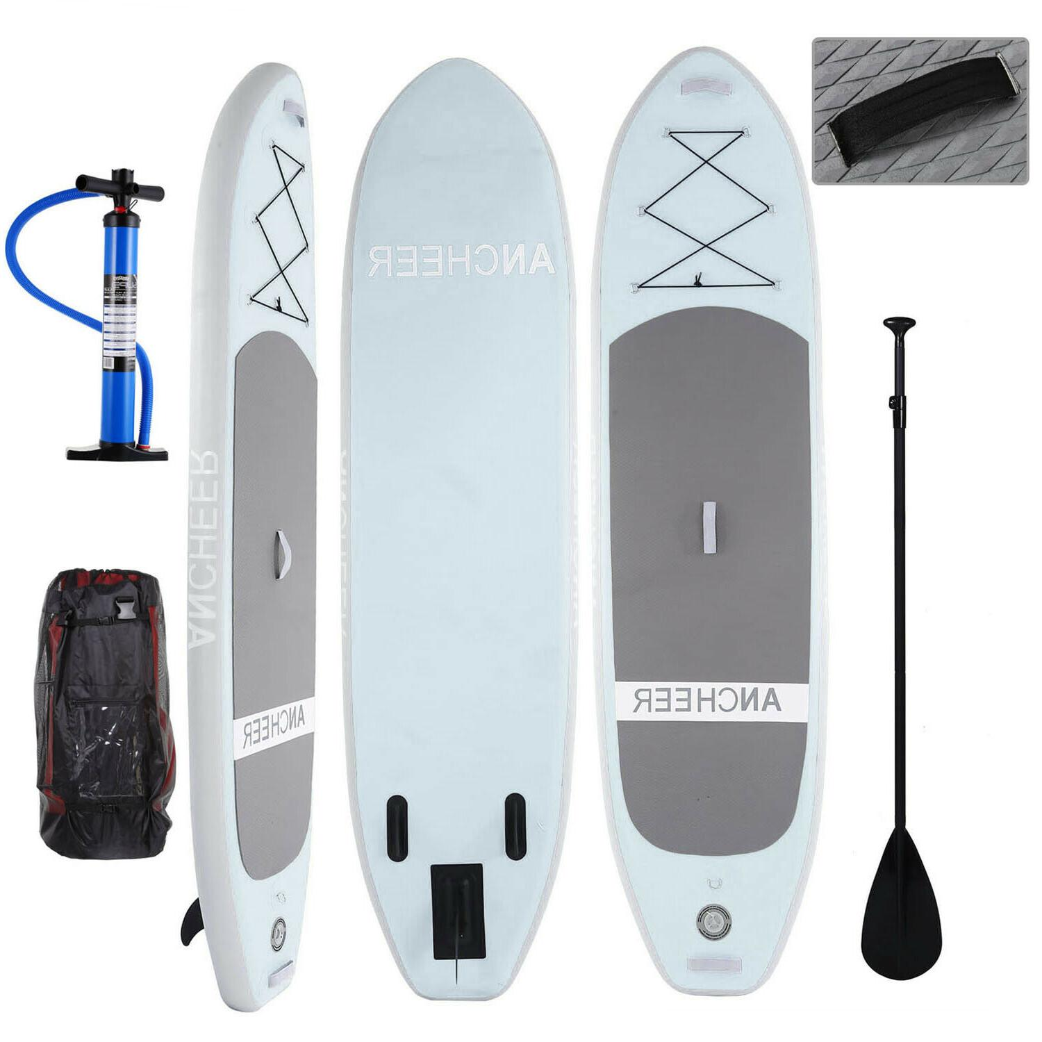 ANCHEER Inflatable Paddle Board 11' Package w/Adjustable Paddle