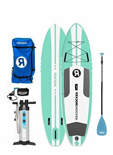 around inflatable stand paddle board