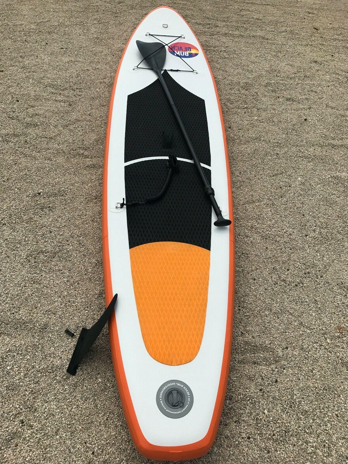 Beach Bum SPK2 10' 10'' Inflatable Stand Up Paddle Paddle and leash