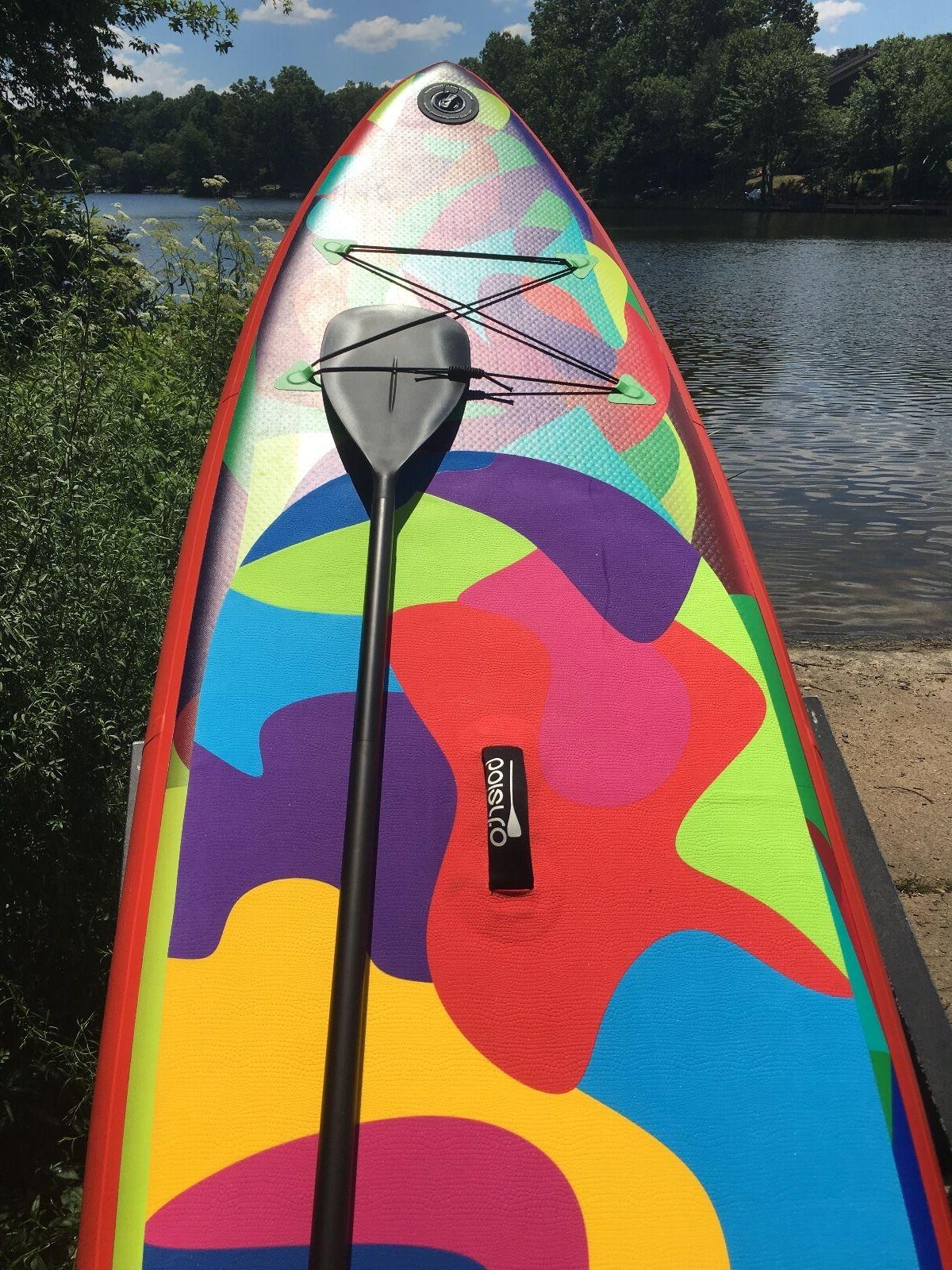 Boierto 10'6'' SUP Stand Up Paddle Package, Thick Paddle