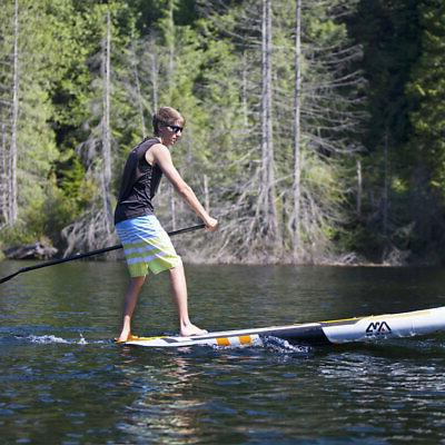 Aqua BT-17MA 10 Foot Inflatable Stand Up Paddleboard w/ Mount