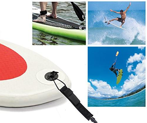 Unigear Premium 10' SUP Leash Inflatable Paddle Board with Wallet